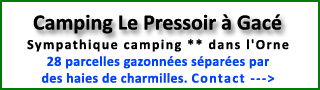Camping Le Pressoir à Gacé (61)